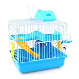 LSS Hamster Cage, Small Animal House, Luxury Hamster Villa with Running Wheel, House