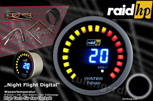 Indicador digital de temperatura de agua color azul Raid hp 660502 Night Flight Digital