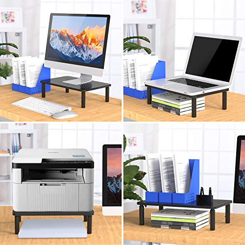 Monitor Stand Riser - 3 Height Adjustable Monitor Stand for Laptop, Computer, iMac, PC, Printer, Desktop Ergonomic Metal Monitor Riser Stand with Mesh Platform for Airflow by HUANUO by HUANUO (Image #5)