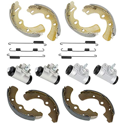 CALTRIC 2 FRONT REAR BRAKE SHOES CYLINDER FOR Kawasaki MULE 2510 KAF950A Diesel 2000-2001