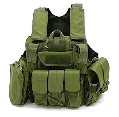 GAGA Tactical Molle Airsoft Vest Paintball Combat Soft Vest OD Green