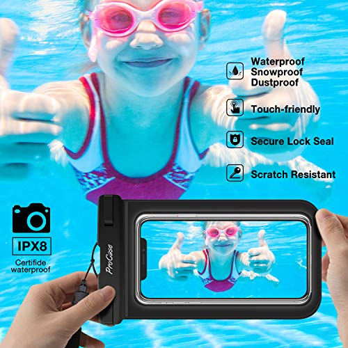 ProCase Universal Cellphone Waterproof Pouch Dry Bag Underwater Case for iPhone 12 Pro Max 11 Pro Max Xs Max XR X 8 7 6S…