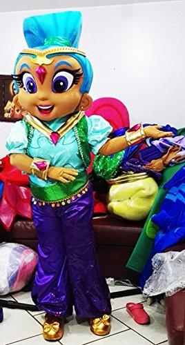 Shine Genie mascota traje adulto Character disfraz/entrega tiempo ...