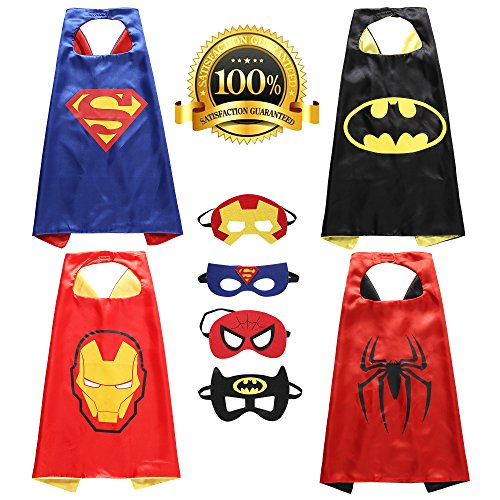 Lazu Superhero Cape and Mask Costumes for Kids Set-Capes and Masks