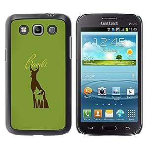 EJOY---Cubierta de la caja de protección la piel dura para el / Samsung Galaxy Win I8550 / --Bambe ciervos