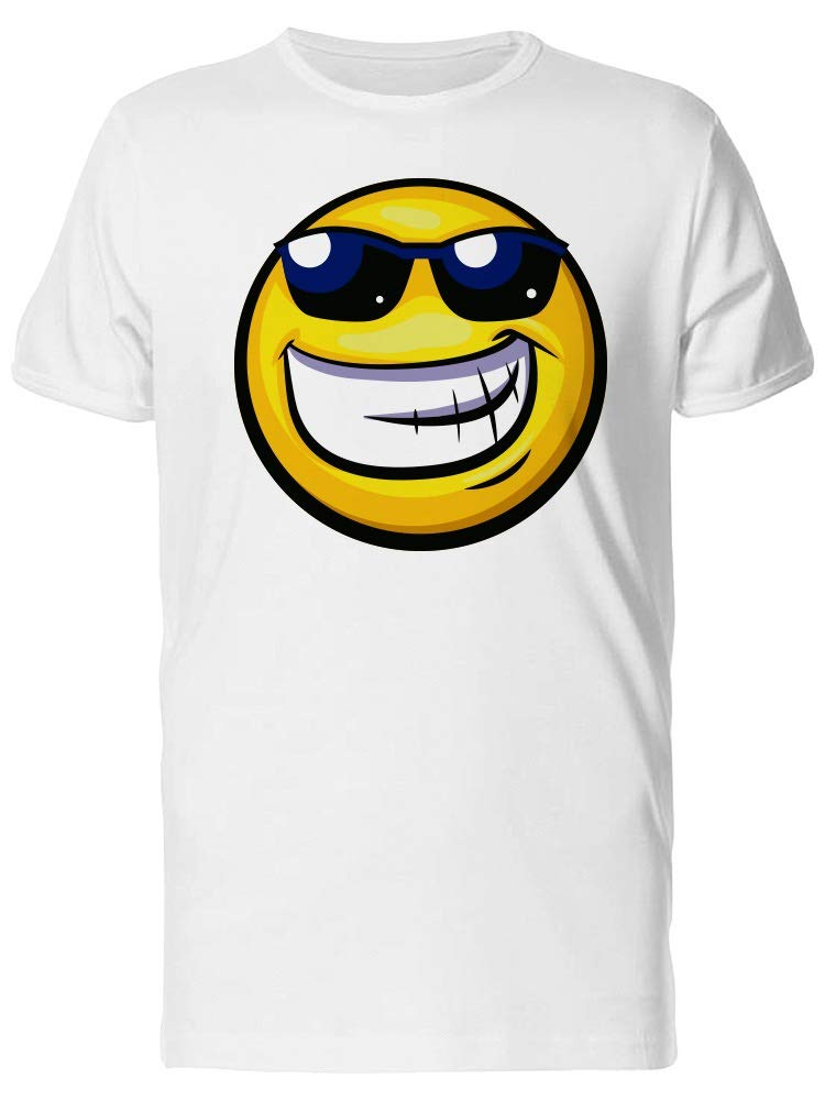 Cool Smiley With Sunglasses Tee Men's -Image by Shutterstock
