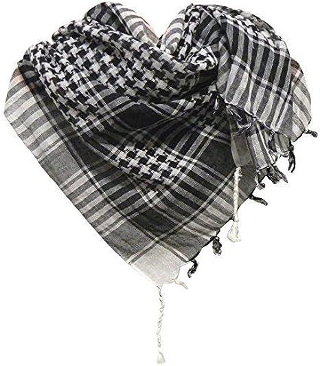 Pañuelo palestino negro-blanco a cuadros 100x100cm algodón árabe ...