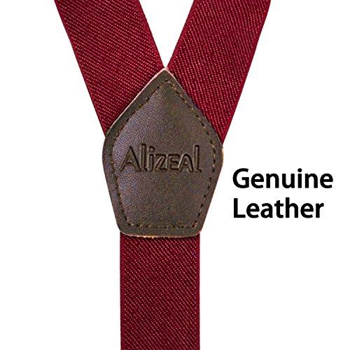 clip Larghezza per 3 scuro cm Braces in viola pelle 3 con 5 Retro Alizeal bottoni uomo Genuine X7AwUgxg