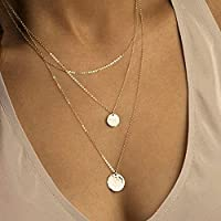 Unicra Multi-Layer Necklace Choker with Long Chain for Women and Girls