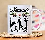 Namaste Mug, Namas'te Mug, Yoga Mug, Yoga gift mug, Namaste in bed, Mothers day gift, Namaste mat, Meditation, Spiritual Mug, gift