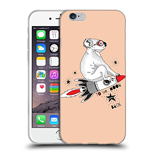 GoGoMobile Coque de Protection TPU Silicone Case pour // Q05240604 Koala volant Abricot // Apple iPhone 7