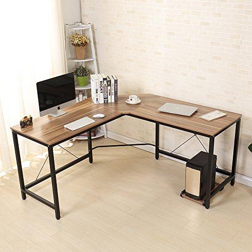 SogesHome Corner Desk Escritorio en Forma de L para computadora L ...