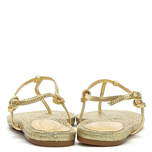 Lauren by Ralph Lauren Makayla Gold Leather Toe Post Sandals Gold Leather J5tLp