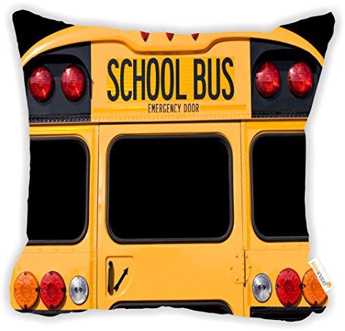 Rikki Knight Back Of A Yellow School Bus Microfiber Throw Décor Pillow Cushion 16