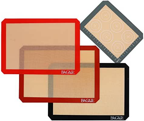 4 Set Silicone Baking Mat – 3 Thick Half Sheet Liners(11 5/8