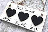 Product review for Little Miss Scrabbled - Handmade Cream Weight Loss Chalkboard Plaque Countdown - use with Slimming World Weightwatchers Diets by MadeAt94