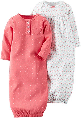 Carters Baby Girls Sleeper Gowns