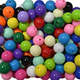 20mm Bulk Mix of Solid Chunky Bubblegum Beads 15 Colors 120 Acrylic Gumball Beads