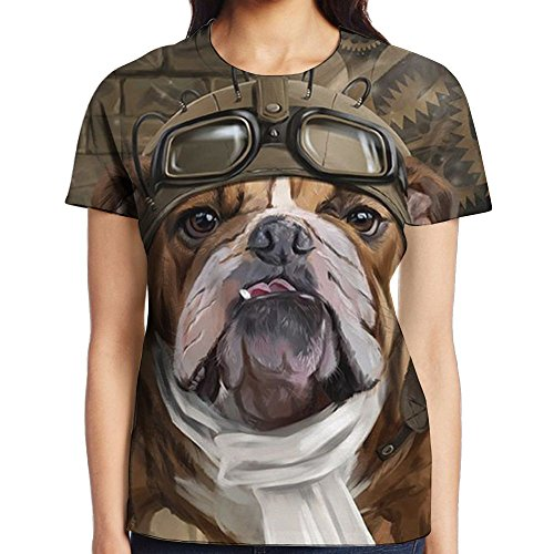 Top Dog Cheerleading - BKDMHHH Women The Dog Pilots 3D Graphic Fashion Summer Casual Stretch Round Neck Short Sleeve Crop Tank Top XX-Large