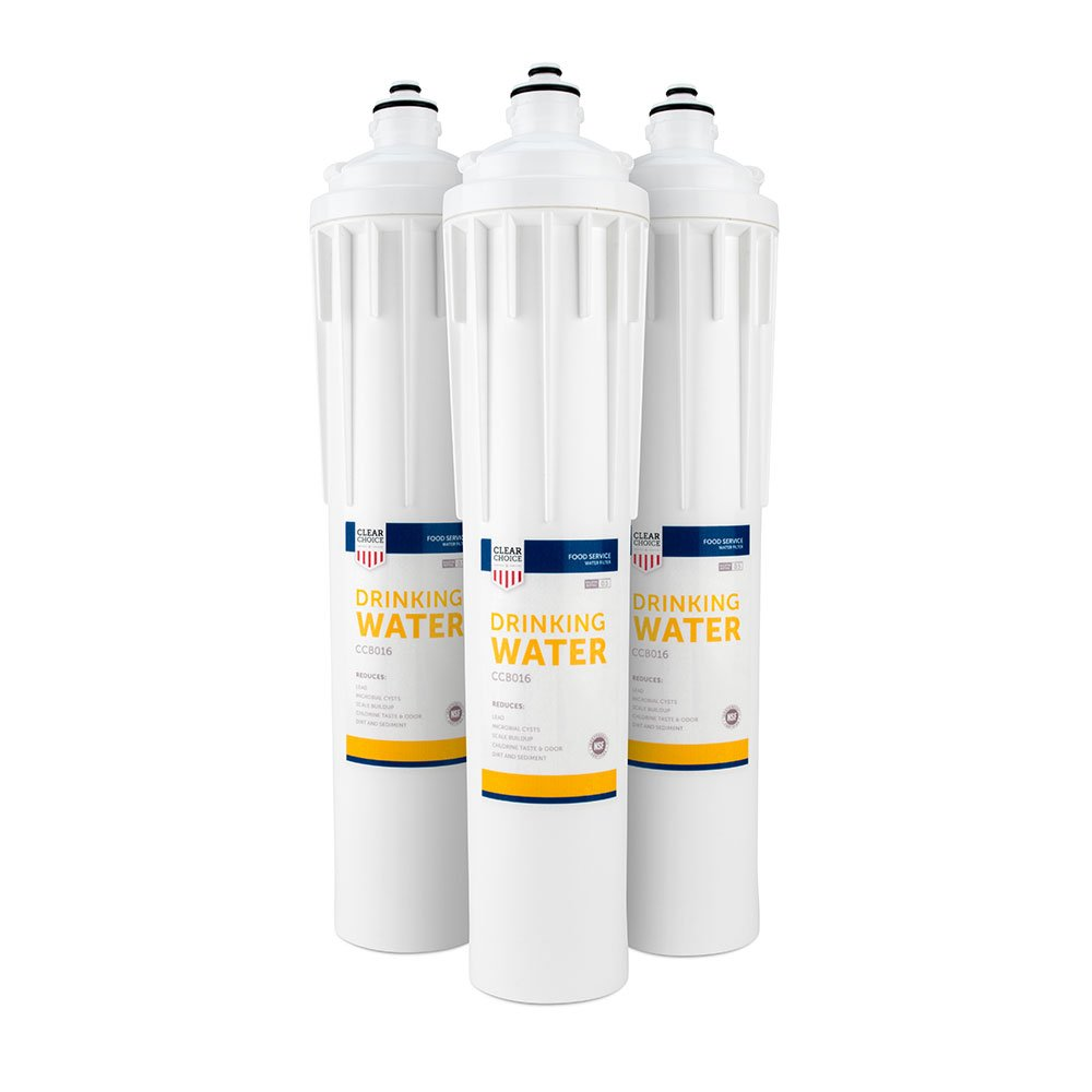Clear Choice Drinking Water Filtration System Replacement Cartridge for Everpure EV9270-70 EV9270-71 EV9270-72 EV9270-76 EV9611-16 H-300 Also Compatible with Nu Calgon 9619-06 9635-06, 3-Pack ClearChoice