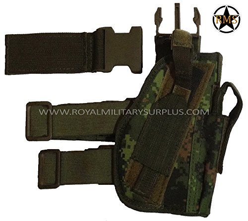 Drop Leg - Pistol Holster - Canada Army Digital Camouflage - Airsoft & Paintball Gear - CADPAT (Temperate Woodland)