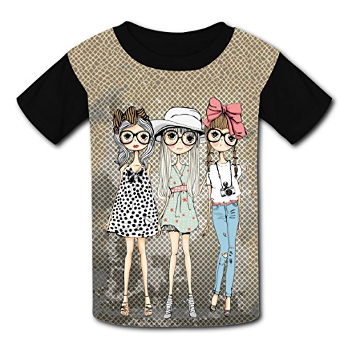 Good Mythical Morning Costumes (LLGROWLY-37 Fashion Girls Kid Pattern Casual Unique Cool Personalized Girls Tee L)