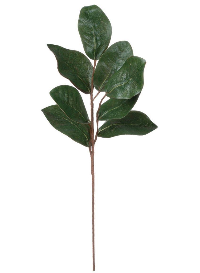 "silk flower arrangements magnolia leaf spray 24"" height"