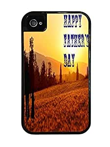 Perfect Father's Day Black 2-in-1 Protective Case with Silicone Insert for Apple iPhone 4 / 4S
