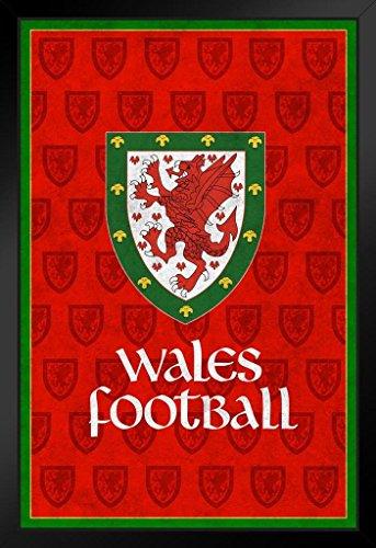 ProFrames Wales Football Retro National Team Sports Framed Poster 12x18