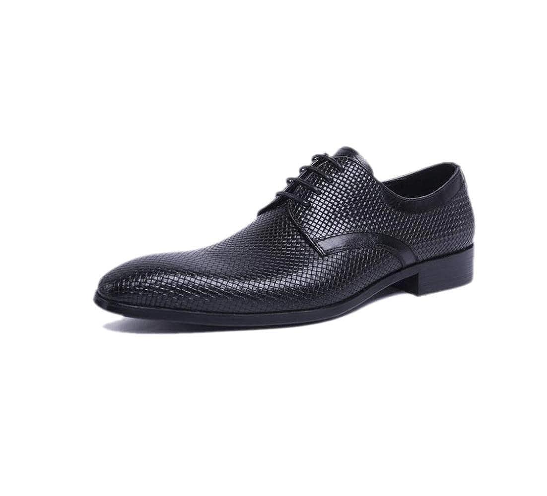 Zapatos De para Cuero para De Hombres Zapatos Trabajo Antideslizante Senderismo Puntiagudo Casual 236334