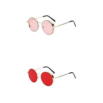 MagiDeal 2X Gafas de Sol Circulares Polarizadas Redondas ...