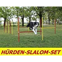 AGILITY TRAINING HURDLES/SLALOM-RODS-SET IN RED/YELLOW
