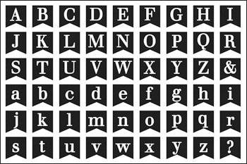 MiniABC2Stamp Upper-case and Lower-case Alphabet Stamps for Scrapbooking and Card-Making by The Stamps of Life