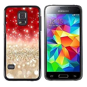 LECELL--Funda protectora / Cubierta / Piel For Samsung Galaxy S5 Mini, SM-G800, NOT S5 REGULAR! -- Pearls Gold Silver Red Glitter --