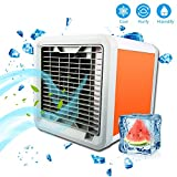 air cooler and humidifier - Mini Portable Air Conditioner, Personal Space Cooler Cooling Fan Air Purifier, Humidifier Cool Any Space, 7 Colors Nightstand As Seen On TV Desktop Cooling Fan