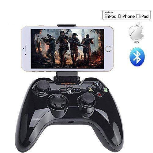 - Wireless Bluetooth Joystick Apple MFi Certified, PXN-6603 Speedy Wireless Bluetooth Gamepad Game Controller for iPhone 6S Plus 6 5S 5 4S, iPad Air 2, iPad Mini 4 3, iPad Pro, Apple TV, Black