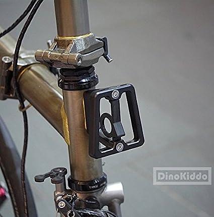 Negro CNC Front Carrier bloque para Brompton Bicicleta Plegable - Dino Kiddo: Amazon.es: Deportes y aire libre
