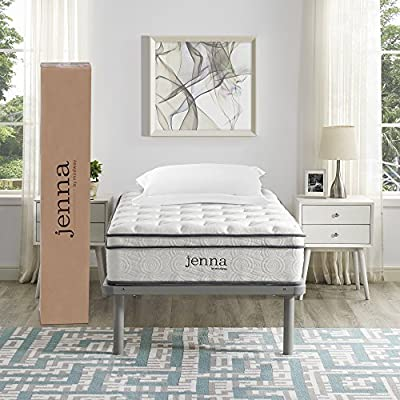"Modway Ultimate Quilted Pillow Top 10"" Jenna Innerspring Mattress - Individually Encased Pocket Coils - 10-Year Warranty by Modway"