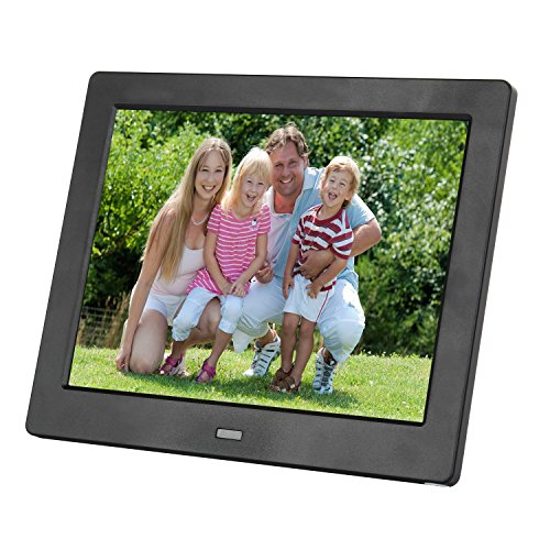8 Inch Digital Photo Frame IPS Electronic Picture Frame High Definition(1080P)Video/Audio Player LCD Display 1024x600 USB/SD/MS/MMC Slot Support,No USB/SD Included,with Wireless Remote Control(Black) by Acecharming