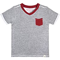Burt's Bees Baby Boys' T-Shirt, Short Sleeve V-Neck Crewneck Tees, 100% Organic Cotton