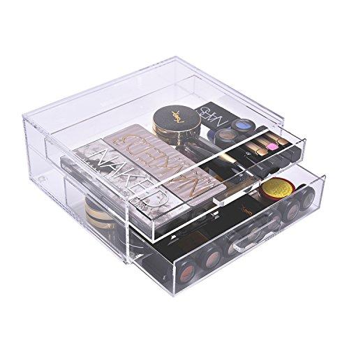 Acrylic 2 Drawers Cosmetic Organizer - 9