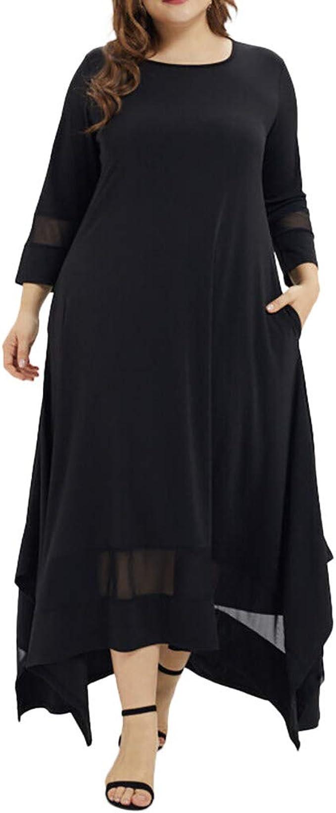 ZEELIY Damen Muslimische Stickerei Langarm Kleid Tunika Abaya Dubai Kleider  Maxikleid Abendkleid Muslim Frauen Knöchellang Kleid Hochzeit Kaftan Robe