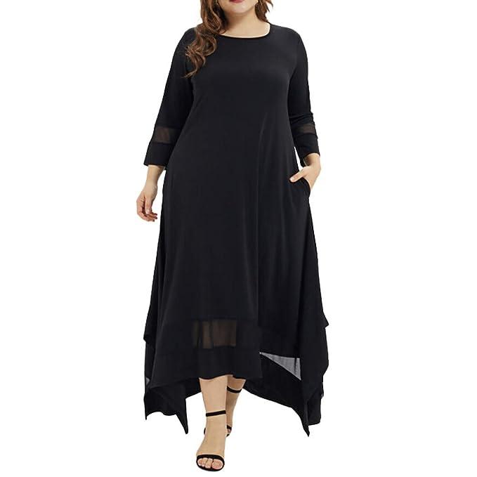 Amazon.com: Plus Size Dresses for Women Long Sleeve Loose ...