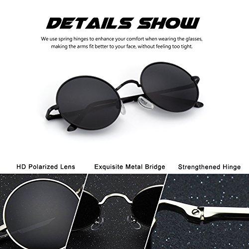 Vintage E01 sol mujeres inspirado redondo Lennon gafas de Smoke Retro círculo Estilo para polarizadas CGID metálico y hombres gEwdq1q