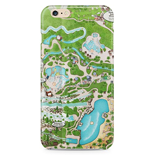 Queen of Cases Hard Shell Phone Case - Blizzard Beach - Map Blizzard Disney Beach