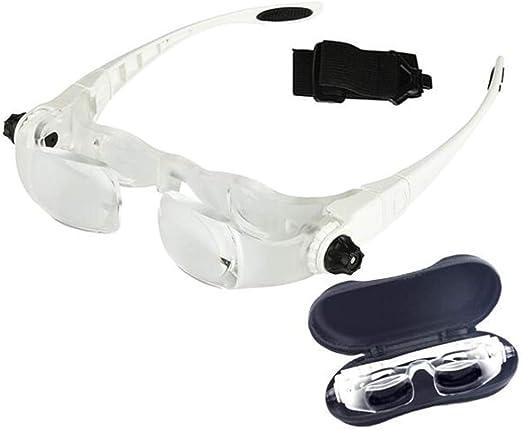 Wm Lihgt Lupenbrille Max Tv Fernsehbrille 3 8x 4x Linsen 3 Dioptrieneinstellung Kopfbandlupe Stirnlupe Brillenlupe Für Brillenträger Lesen Handwerk Juweliere Nähen Reparatur Lesel Sport Freizeit