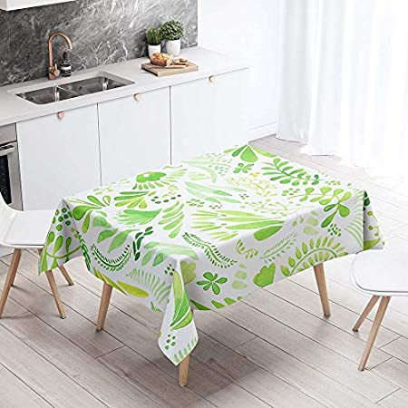 Mantel para Mesa Impermeable Antimanchas, Chickwin Cocina Comedor Rectangular Resistente al Desgaste Lavable Mantel de Poliéster Hojas Tropicales Patrón 3D (Vino,140x260cm)