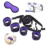 Bed Restraint System Kit,EYLEER Medical Grade Strap with Comfortable Wrist and Ankle Cuffs,Fits Almost Any Size Mattress (purple)