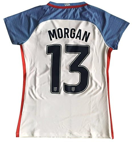 2016-2017 Alex Morgan #13 USA National WOMEN'S Home Jersey (Medium) (Us Womens National Team)