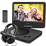 WONNIE New 9 Inch Portable DVD Player with Swivel Screen, USB / SD Slot Perfect Gift for Kids ( Black )